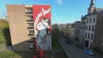 TIMELAPSE. Mala Zimetbaum, joodse heldin, vereeuwigd op gevel in Borgerhout