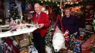 """Kersthuis met meer dan 200 artikelen: """"Mijn tas koffie kan nog net op het tafeltje staan, onder de ijsbeer"""""""