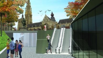 Nieuw plein betekent ook nieuwe roltrappen voor premetro Groenplaats ... maar wel pas tegen 2023