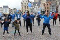 Iedereen in het blauw op Wereld Diabetes Dag