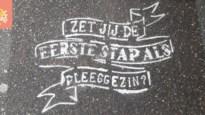 Mechelen 'tatoeëert' voetpaden om pleegzorg te promoten