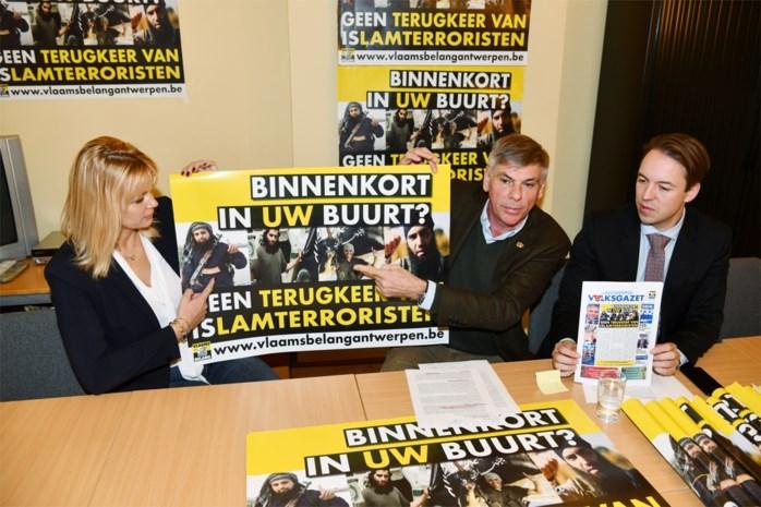 """Vlaams Belang start campagne en petitie tegen terugkeer van IS-strijders: """"Ze horen niet thuis in onze stad, maar aan de galg"""""""