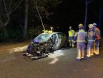 Geknelde chauffeur bevrijd bij zware crash