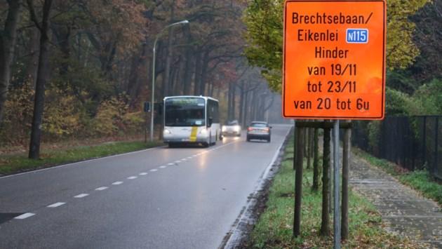 Werken Brechtsebaan en Eikenlei gebeuren 's nachts om verkeershinder te beperken