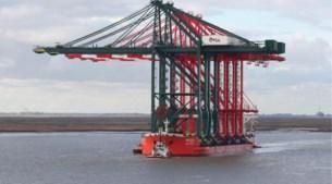 Spectaculaire timelapse: grootste containerkranen in Antwerpse haven komen aan per schip vanuit China