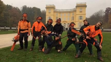 Leerlingen PITO Stabroek ruimen in domein d'Ursel schade na de storm op