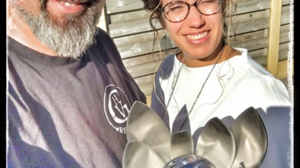 Laskunstenaar wint eerste prijs Welding Week in Antwerp Expo met... urne overleden nonkel