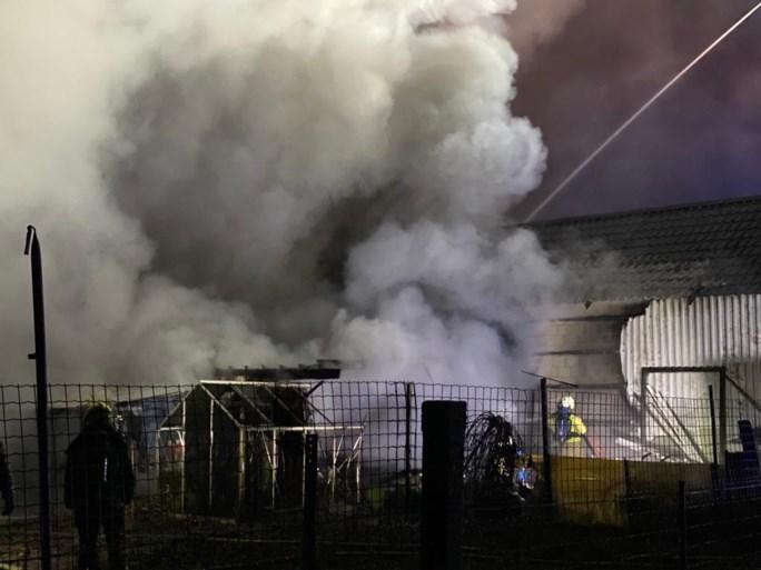 Hevige knal wekt buurtbewoners: serre en garage uitgebrand