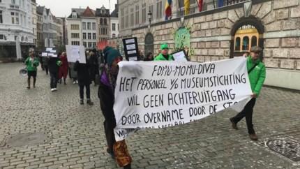 Personeel FoMu, MoMu en DIVA betoogt tegen overname-voorwaarden van stad Antwerpen