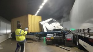 Beverentunnel terug vrijgegeven na zwaar ongeval met twee vrachtwagens