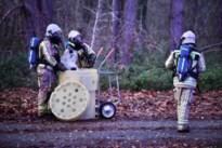 Brandweer ruimt bidons met onbekende stof op in Zwijndrecht