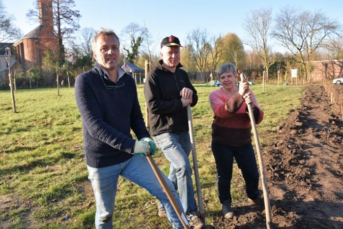 Natuurgidsen planten fruitboomgaard als afstudeerproject