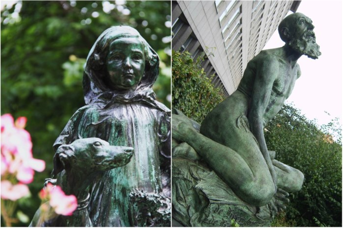 Twee geliefde standbeelden keren terug in Mechels straatbeeld