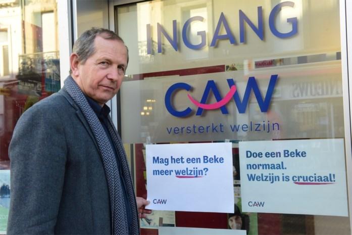 Medewerkers CAW De Kempen betogen in Brussel