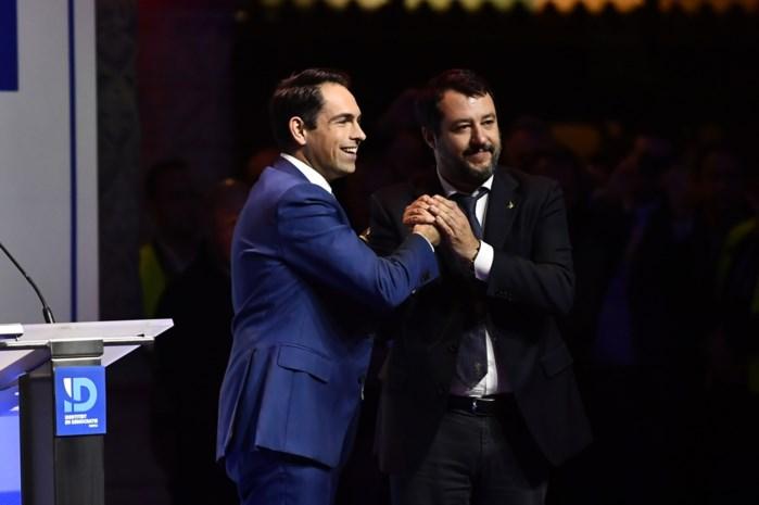Vlaams Belang ontvangt Matteo Salvini als rockster in Handelsbeurs