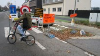 Ook fietsers moeten nu eind omrijden rond werf Ternesselei