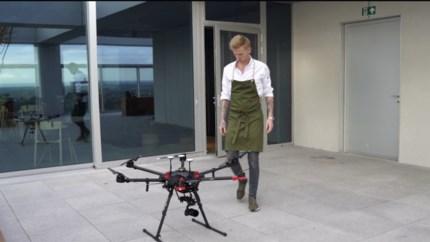 Lokale kaviaar vliegt restaurant Hert binnen met de hulp van drones