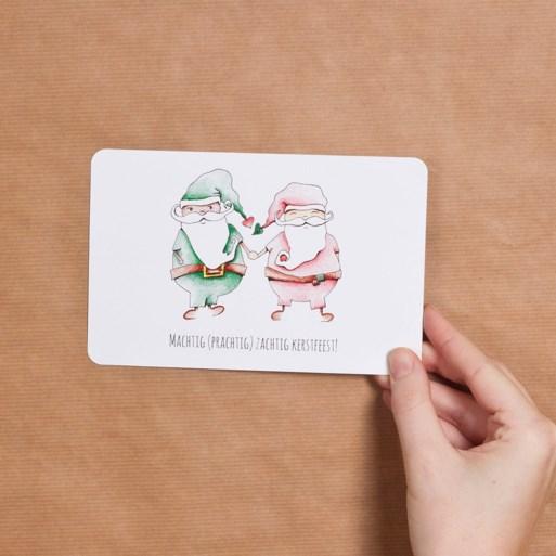 """Peter Van de Veire ontwerpt samen met dochter vijf kerstkaartjes: """"Haar tekeningen zeggen meer dan mijn woorden"""""""