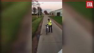 Video van boze Kempense fietser die niet wil wijken voor vrachtwagen gaat viraal