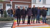 Zanger en ex-Bomenaar krijgt peterschap van nieuwe regenboogzebrapaden