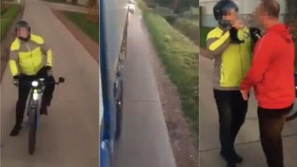 """Analyse over filmpje met speed pedelec massaal gedeeld: """"Gefrustreerde automobilist op een fiets"""""""