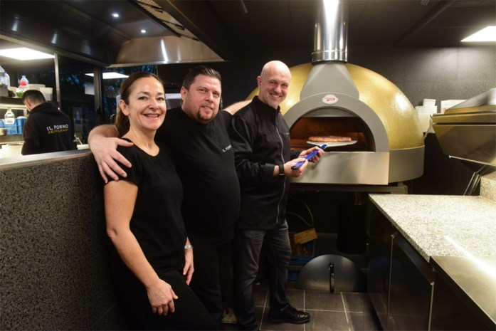 Gouden pizzaoven blikvanger in volledig vernieuwd restaurant Il Forno