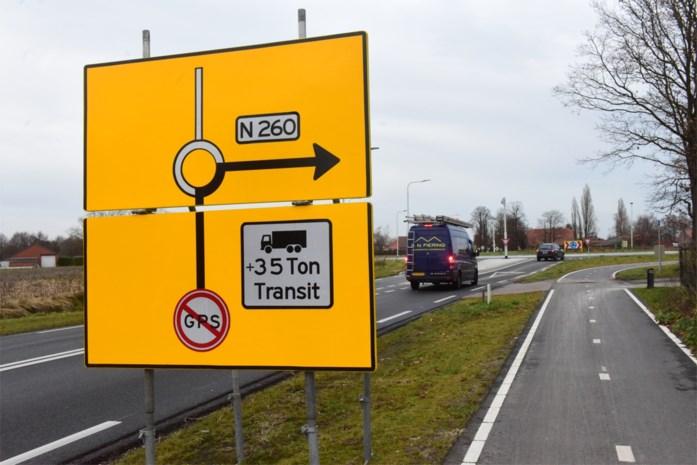 Enclavegemeentes plaatsen adviesborden voor vrachtverkeer