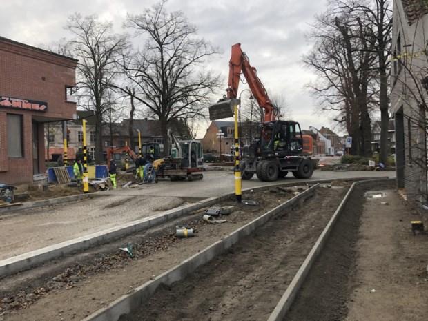 Deadline voor werken in Olen-centrum met twee maanden uitgesteld