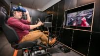 Nieuwe virtual reality: kruip eens in een racewagen, in de Leopoldstraat