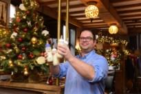 Café Sir Lancelot baadt in kerstsfeer voor wandelaars