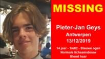 15-jarige Pieter-Jan sinds vrijdag vermist