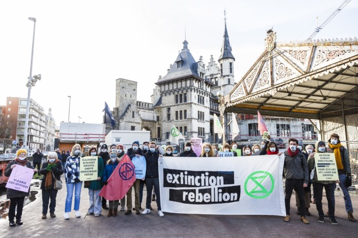 Extinction rebellion voert stilte-actie