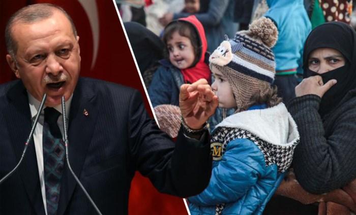 Erdogan waarschuwt voor nieuwe vluchtelingencrisis