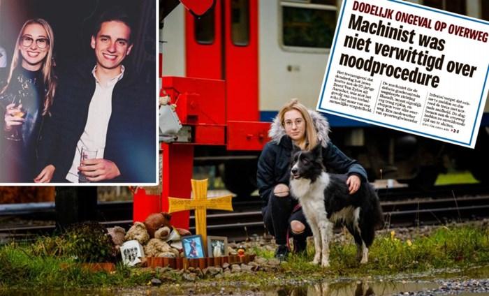"""Brent (20) stierf bij treinongeval, zijn vriendin Yentel (19) overleefde: """"Ik ben de helft van mezelf kwijt"""""""