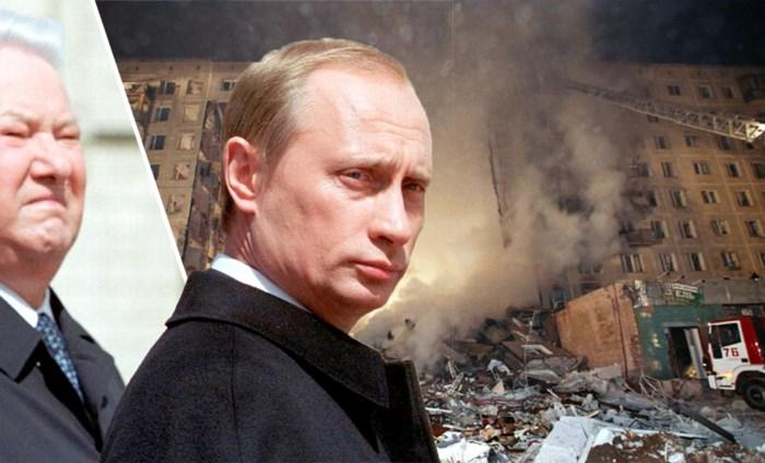 Vladimir Poetin: al twintig jaar aan de macht met dank aan een reeks ontplofte flats door 'Tsjetsjeense terroristen'