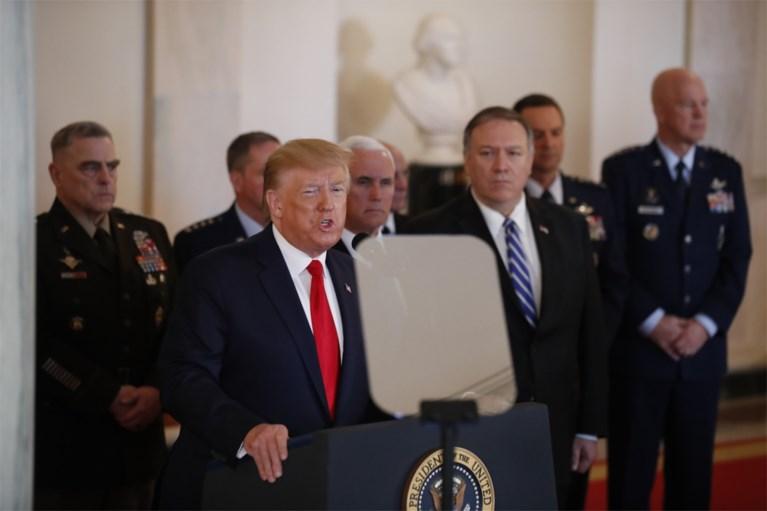 """President Trump reageert op Iraanse raketaanval met """"hardere economische sancties"""""""