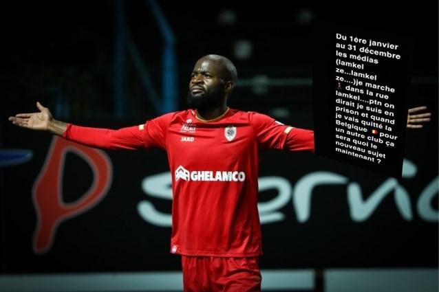 """Lamkel Zé reageert op kritiek na rode kaart: """"Het lijkt wel alsof ik in de gevangenis zit"""""""