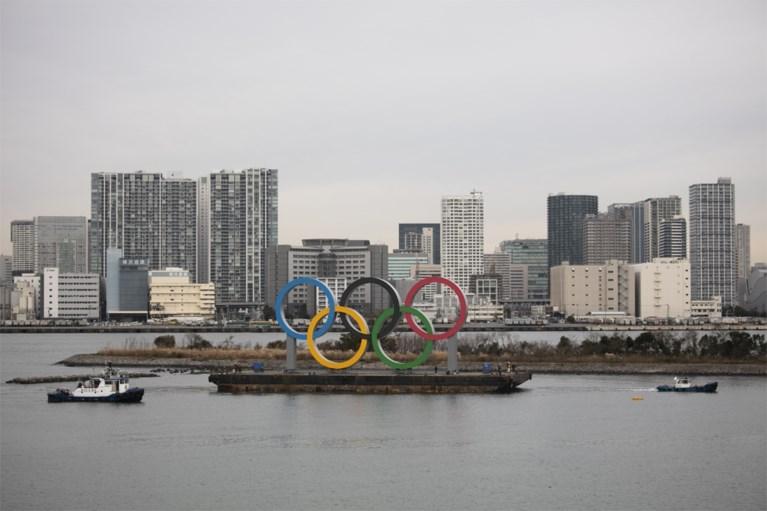 Gigantische olympische ringen zijn gearriveerd in Tokio