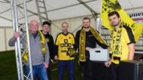 Voetbalsupporters Zwarte Leeuw en Lyra-Lierse verbroederen voor wedstrijd