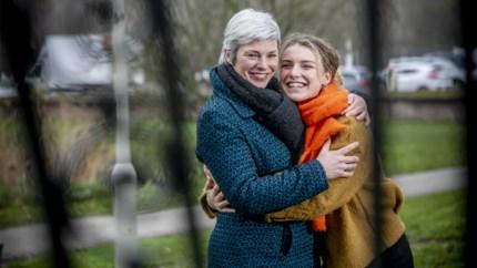 Moeder en dochter: actrice Machteld Timmermans en Ketnetwrapster Gloria Monserez