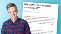 """MNM-dj Tom De Cock haalt fel uit naar stakende vakbonden VRT: """"De VRT is méér dan die misnoegde werknemers"""""""