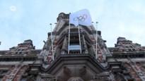 Olympische vlag wappert in Borgerhout