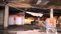 Winkelkarretjes van Carrefour Temse in brand gestoken