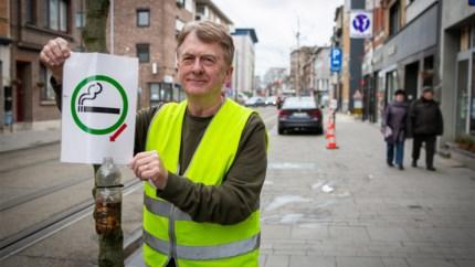 """Sigarettenboompjes houden Herentalsebaan peukenvrij: """"Alle beetjes helpen"""""""