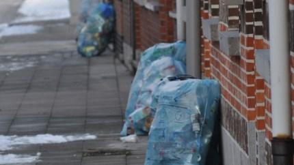 Afval door stakingsactie niet gesorteerd opgehaald