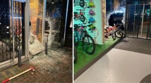 Inbraak in fietsenwinkel: met bijlen venster kapotgeslagen, voor ruim 100.000 euro buitgemaakt