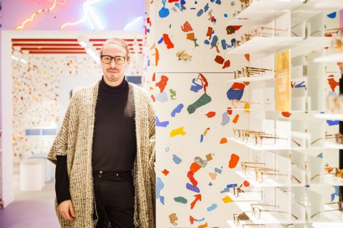 Hip brillenmerk maakt uit Antwerps plastic afval interieur voor nieuwe winkel