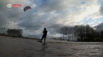 Gek of geniaal? Kitesurfende Kruibekenaar trotseert Ciara