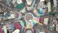Asfaltkunst maakt verkeer in Bogota veiliger