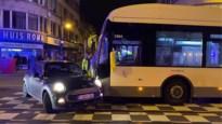 Bus rijdt in flank van auto op Turnhoutsebaan